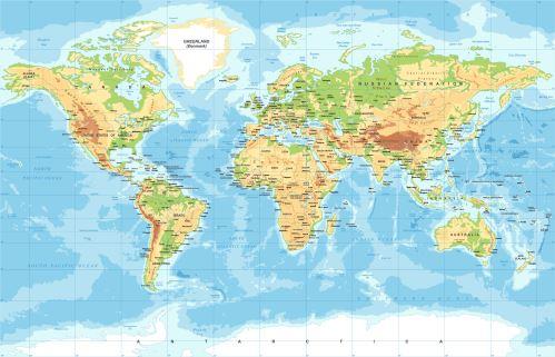 03 - Mapa světa - klasik 2