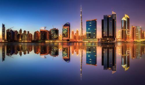 05 - Panoramatický pohled na Dubai Business bay SAE