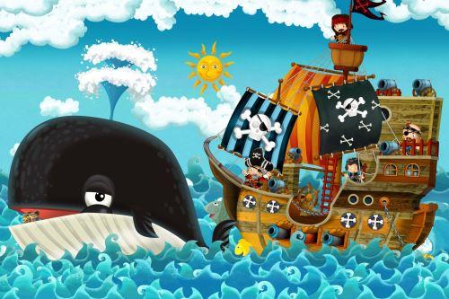 05 - Pirátská loď a velryba