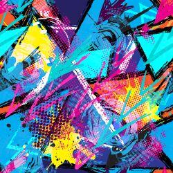 08 - Abstrakce velmi barevná