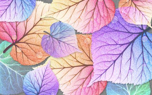 02 - 3D ilustrace s barevnými listy