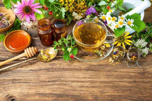 09 - Bylinkový čaj mezi květinami