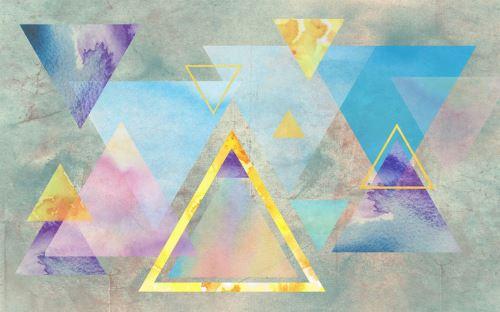 05 - Abstraktní ilustrace s barevnými trojúhelníky