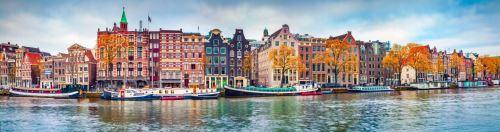 04 - Panoramatický pohled na město Amsterdam Nizozemsko