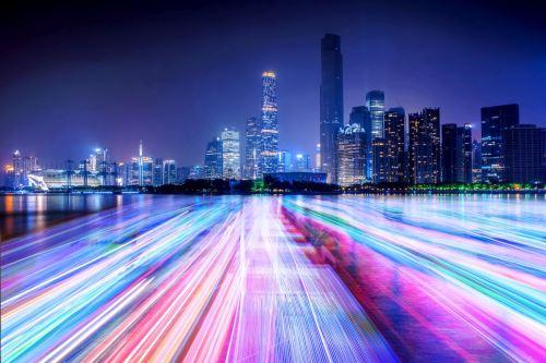 00001 - Světelné panorama města