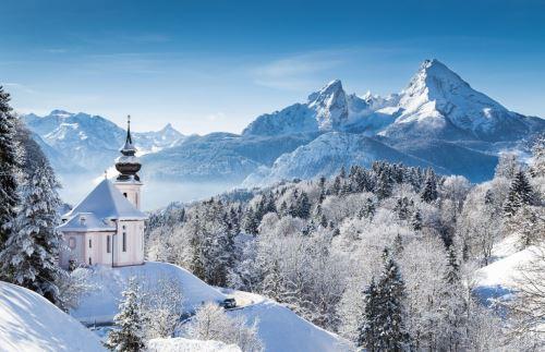 005 - Zasněžená krajina Rakousko