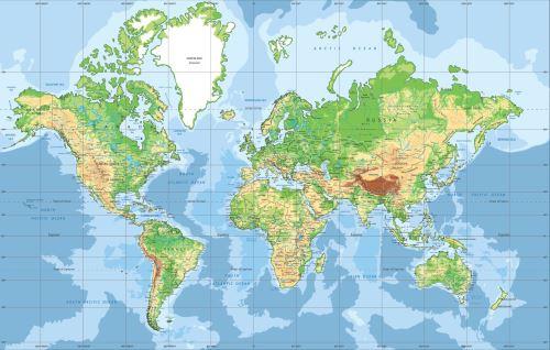 04 - Mapa světa - klasik 3
