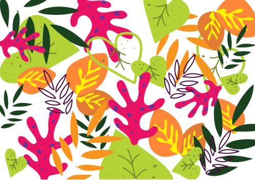 06 - Pop color full pattern Leaf