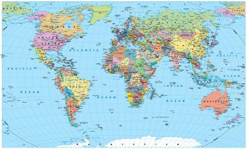 02 - Mapa světa - klasik