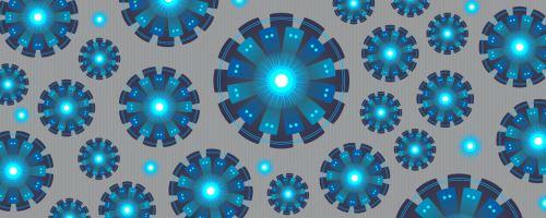 005 - Abstrakce modré kruhy