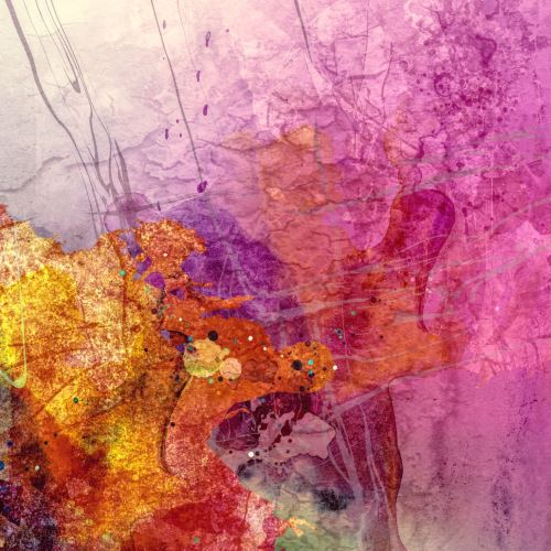 001 - Pestrá růžová abstrakce