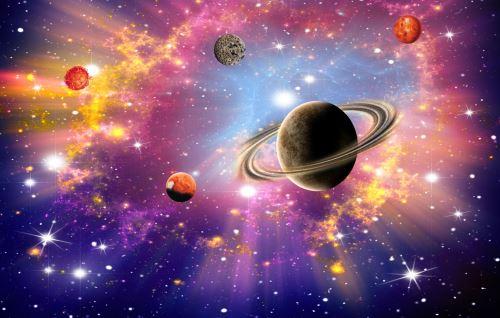 02 - Jasné kosmické pozadí, vesmír, hvězdy a planety